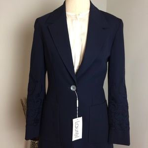 Rare LAURÉL by Escada 2 Pc Embroidered Skirt Suit